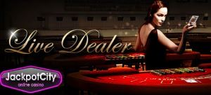 Jackpot City offers the option of playing live online casino games